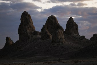 Trona Pinnacles at Night