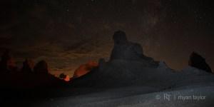 Trona Pinnacles at Night