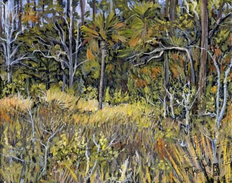 """Dutton Island Salt Marsh, acrylic on canvas, 8"""" x 10"""" - AVAILABLE"""