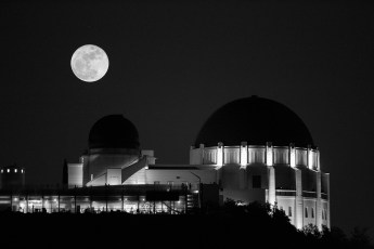 Christmas Moon over Griffith Park Observatory
