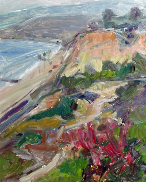 """Pacific Palisades View #2, oil on panel, 9"""" x 12"""" - SOLD"""