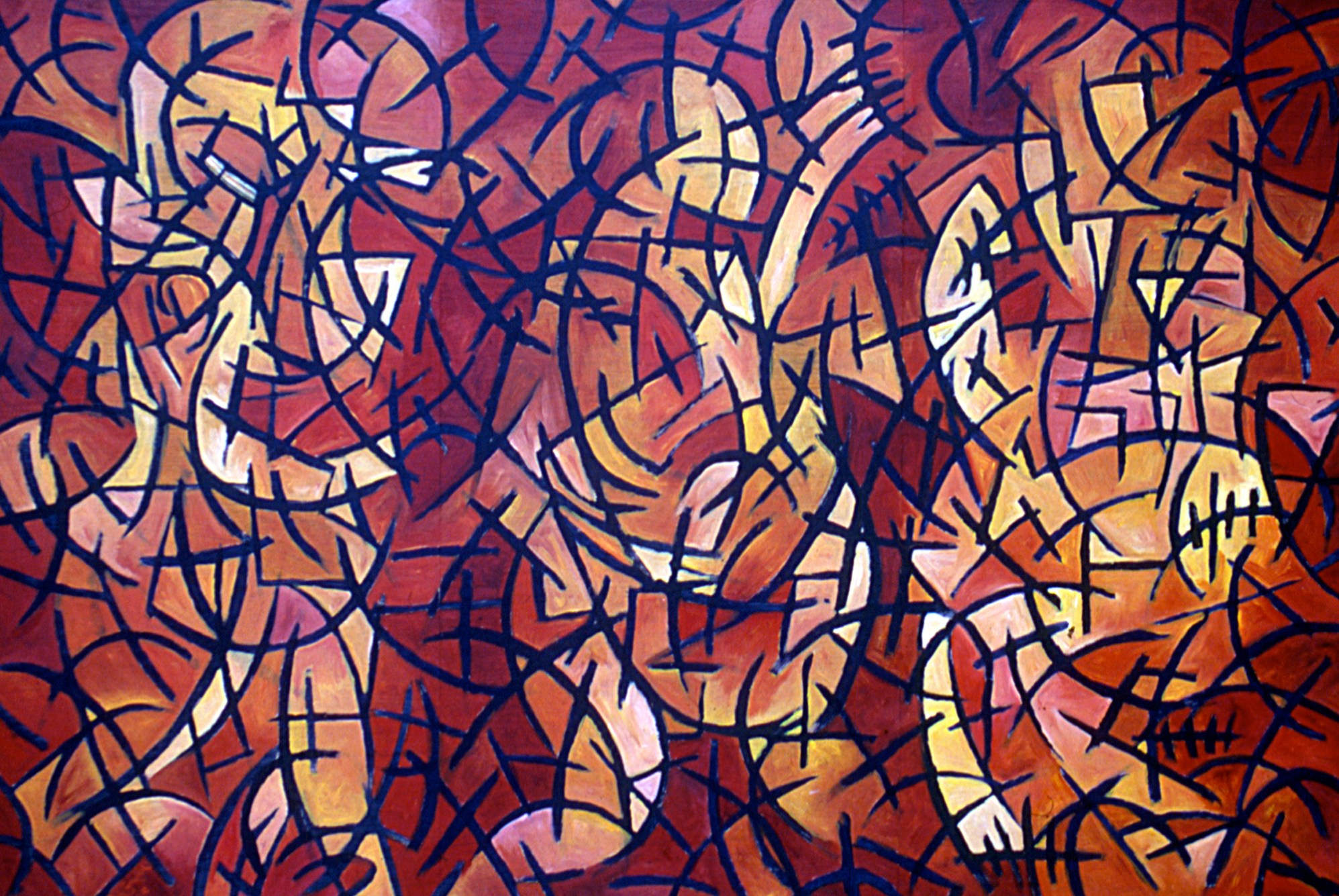 Large Panel Abstract Painting by Rhyan Taylor