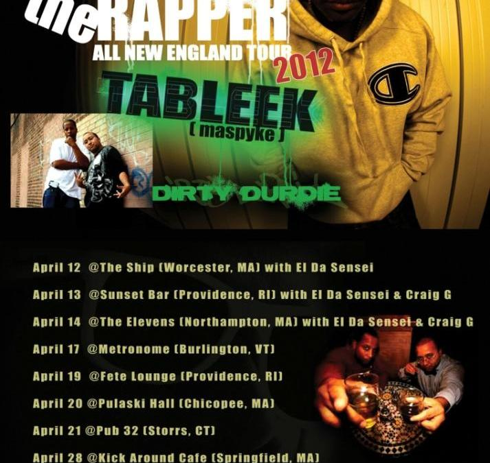 Video Trapped The Rapper All New England Tour 2012 feat. Tableek & DirtyDurdie