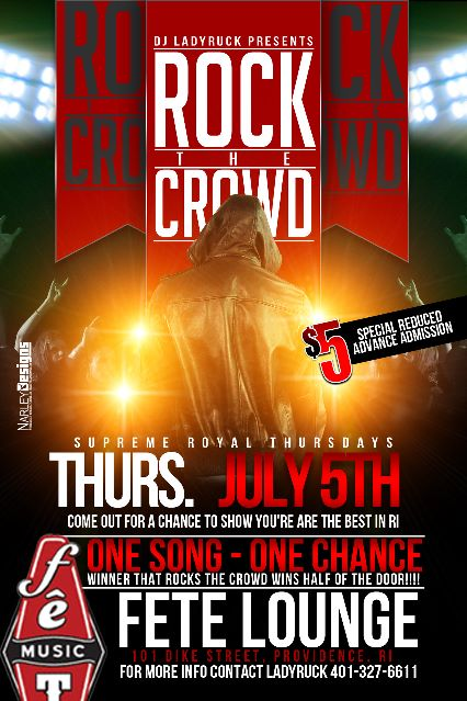 @LadyRuk & @SupRoyal at @FeteMusic present #RockTheCrowd | Thursday 7.5.12