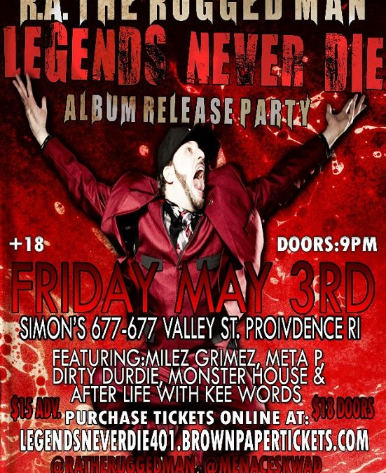 "R.A. the Rugged Man ""Legends Never Die"" Release Party @ Simon's 677 