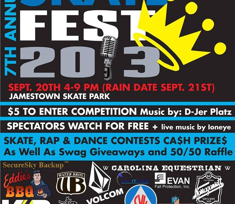 The 7th Annual Skatefest at the Jamestown Skatepark 9.20.13