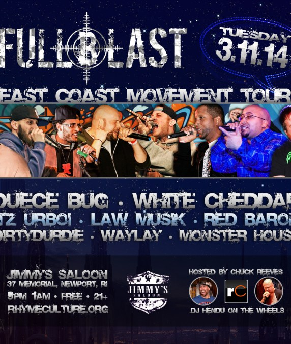 Full Blast East Coast Movement Tour | TUESDAY 3/11/14 @ Jimmy's Saloon
