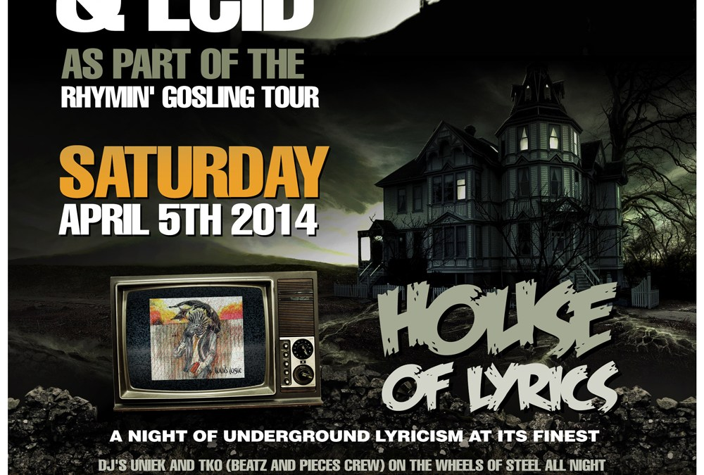 Louis Logic & ECID | House Of Lyrics @ Jimmy's Saloon | SATURDAY 4.5.14
