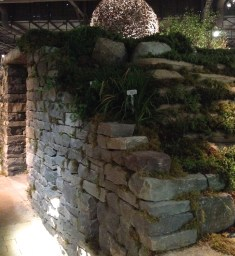A vegetated retaining wall.
