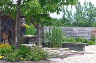A rustic wall hides a zen retreat