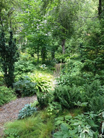 A path at Lost Horizons Garden Nursery in Acton, ON