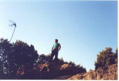 Climbing Mount Ortobene in Sardinia, summer 2000