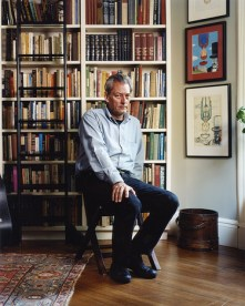 Paul Auster at his home in Brooklyn.