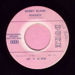 "Bobby Bland "" Poverty "" Duke Demo Vg+"