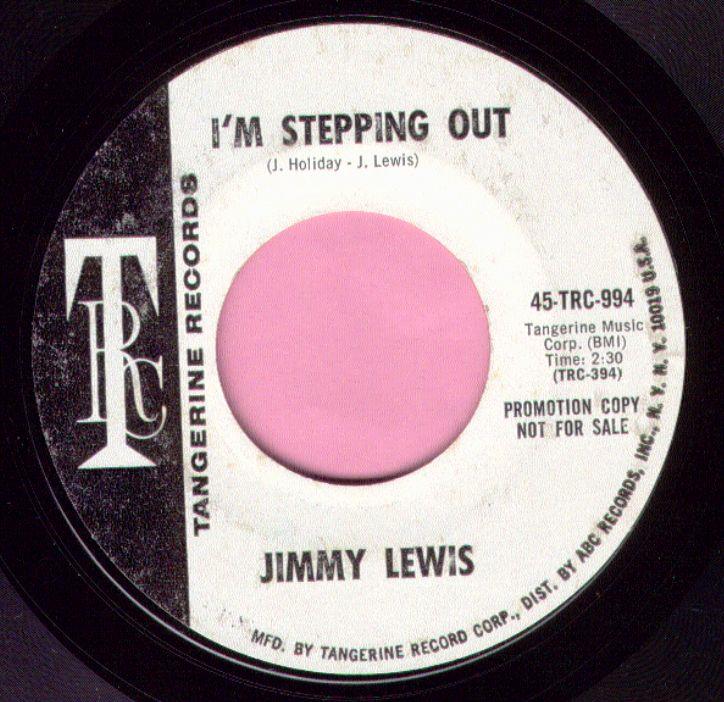 """Jimmy Lewis """" I'm Stepping Out """" / """" Let's Call The Whole Thing Off """" Tangerine Demo Vg+"""