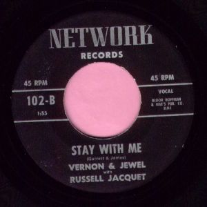 """Vernon & Jewel """" Stay With Me """" Network Vg+"""