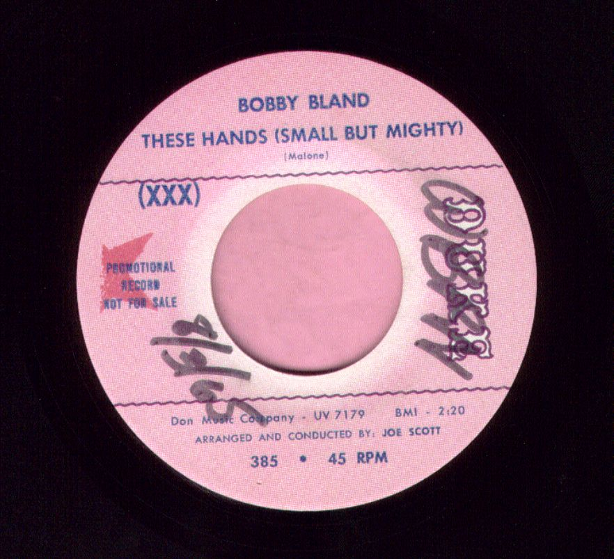 "Bobby Bland "" These Hands ( Small But Mighty ) "" Duke Demo Vg+"