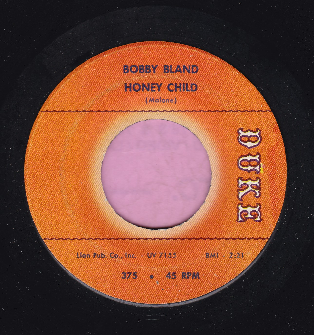 "Bobby Bland "" Honey Child "" Duke Demo Vg+"