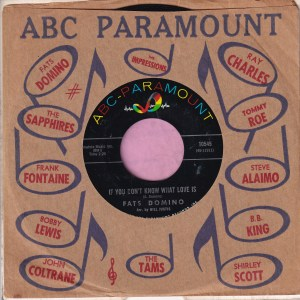 "Fats Domino "" If You Don't Know What Love Is "" ABC Paramount Vg+"