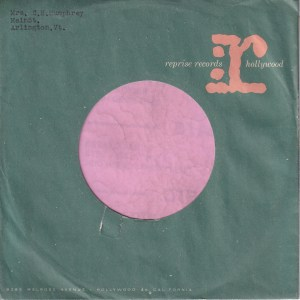 Reprise Records U.S.A. Pink r. Without A Notch On Back Company Sleeve 1961 – 1963