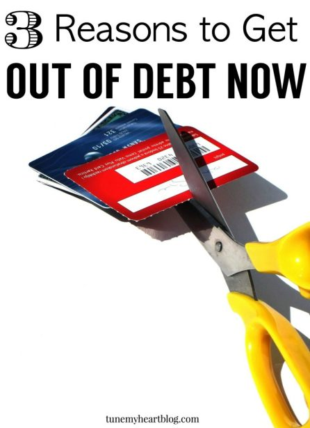 Why get out of debt now instead of later? Here are our top 3 reasons for getting out of debt! http://wp.me/p6bl1n-fO
