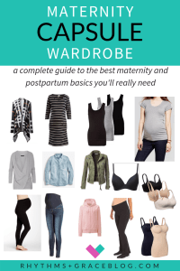 Want to create a minimalist maternity capsule wardrobe? Here is a list of affordable, budget friendly maternity clothes from a mom of 4! She knows exactly what you'll actually wear when you're pregnant. Minimalist maternity spring, summer, fall winter #maternity #capsulewardrobe