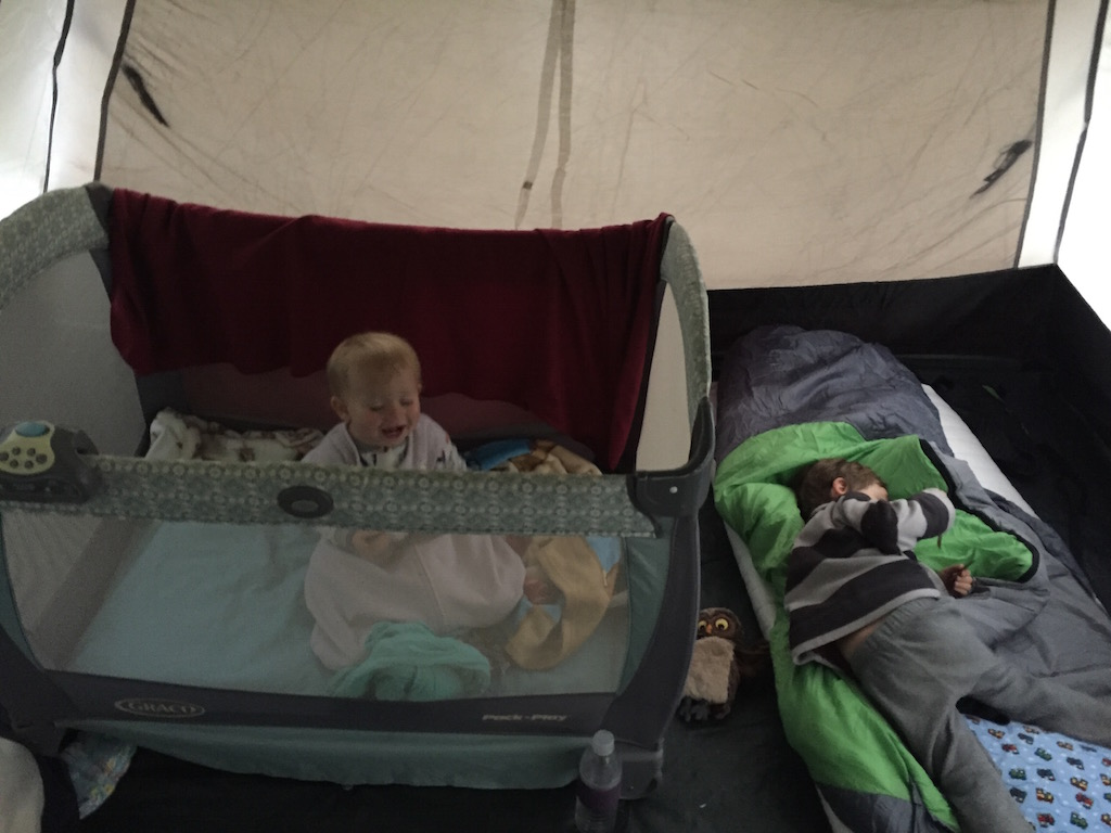 tenting, sleeping, pack and play