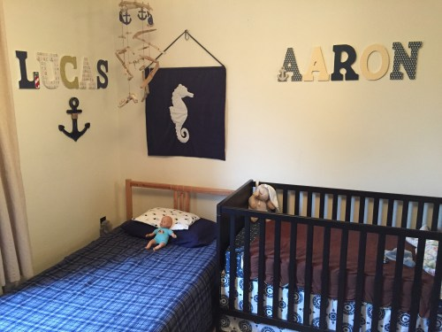 nautical room with name letters
