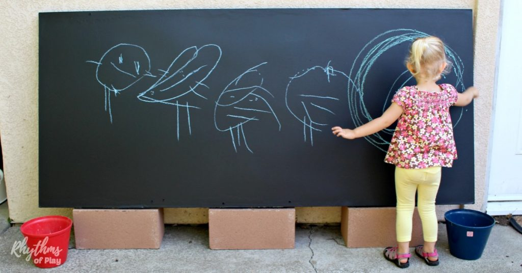 Diy Outdoor Chalkboard For Backyards And Patios Rhythms