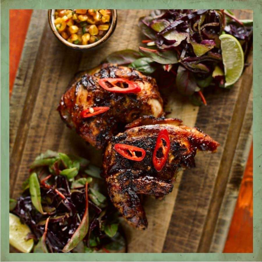 Cuban BBQ glazed chicken