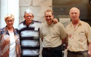 De izquierda a derecha Anabelle Rodriguez Jesus Diaz Rafael Rojas y Victor Batista en Madrid en 1997   Rialta