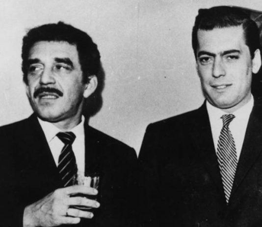 Gabriel García Márquez y Mario Vargas Llosa en la casa Agurto, Lima, 1967.