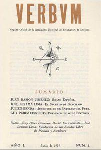 Verbum, año 1, n. 1, junio, 1937