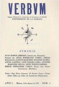 Verbum, año 1, n. 2, julio-agosto, 1937