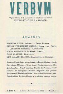 Verbum, año 1, n. 3, noviembre, 1937