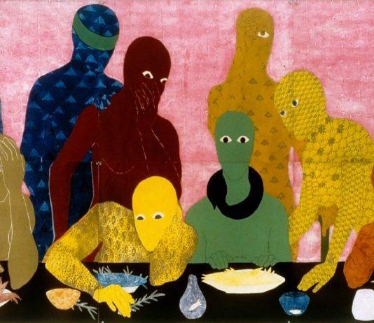 'La cena', 1988; Belkis Ayón. (Fotografía: José A. Figueroa. Cortesía de Belkis Ayón Estate)