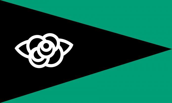 Bandera 11-7 por la libertad de Cuba, diseñada por Miguel Monkc