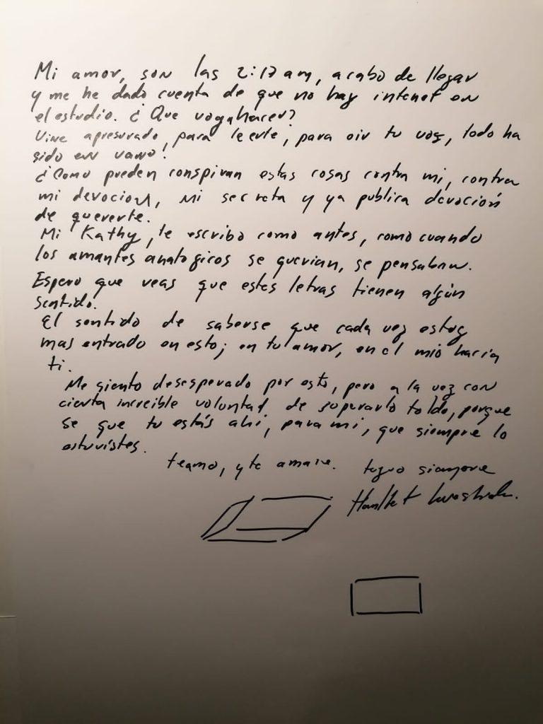 Carta de Hamlet Lavastida a Katherine Bisquet | Rialta