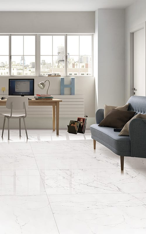 can porcelain floor tile be painted