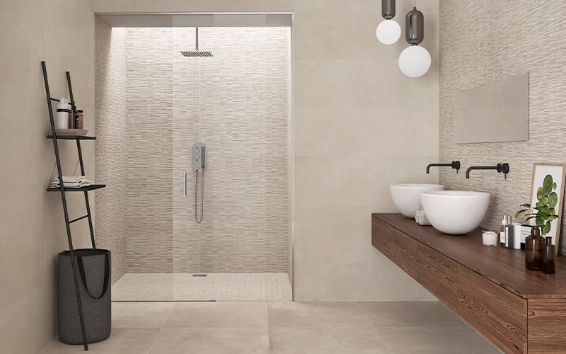 can porcelain tiles be used on shower