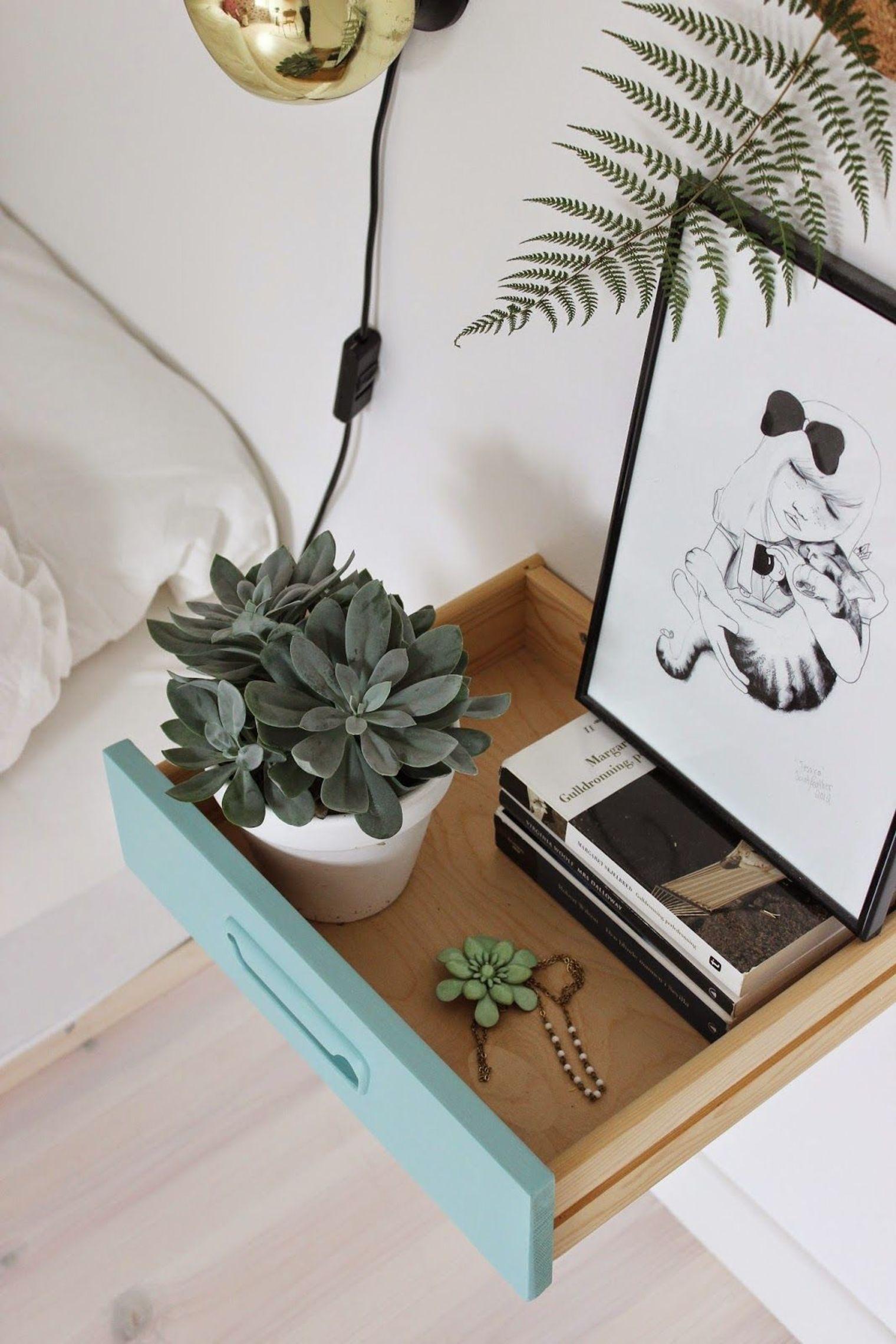 bedroom makeover 12 diy bedside table ideas riamist