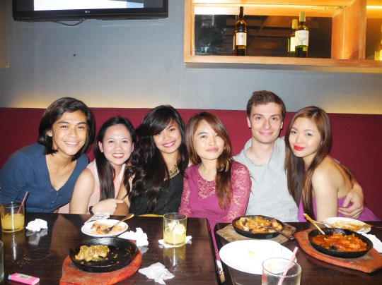 Went out with the interns for dinner