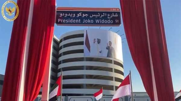 Joko Widodo jadi nama jalan di Abu Dhabi