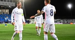 Real Madrid petik kemenangan 3-2 atas Inter Milang.