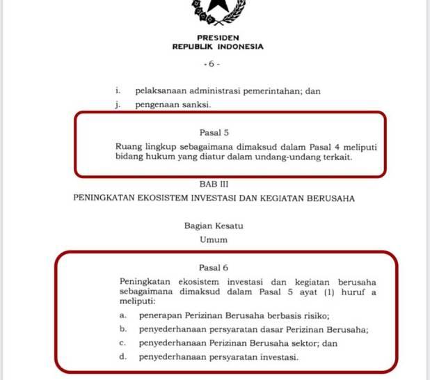 UU Cipta Kerja yang ditandatangani Presiden Joko Widodo bermasalah.
