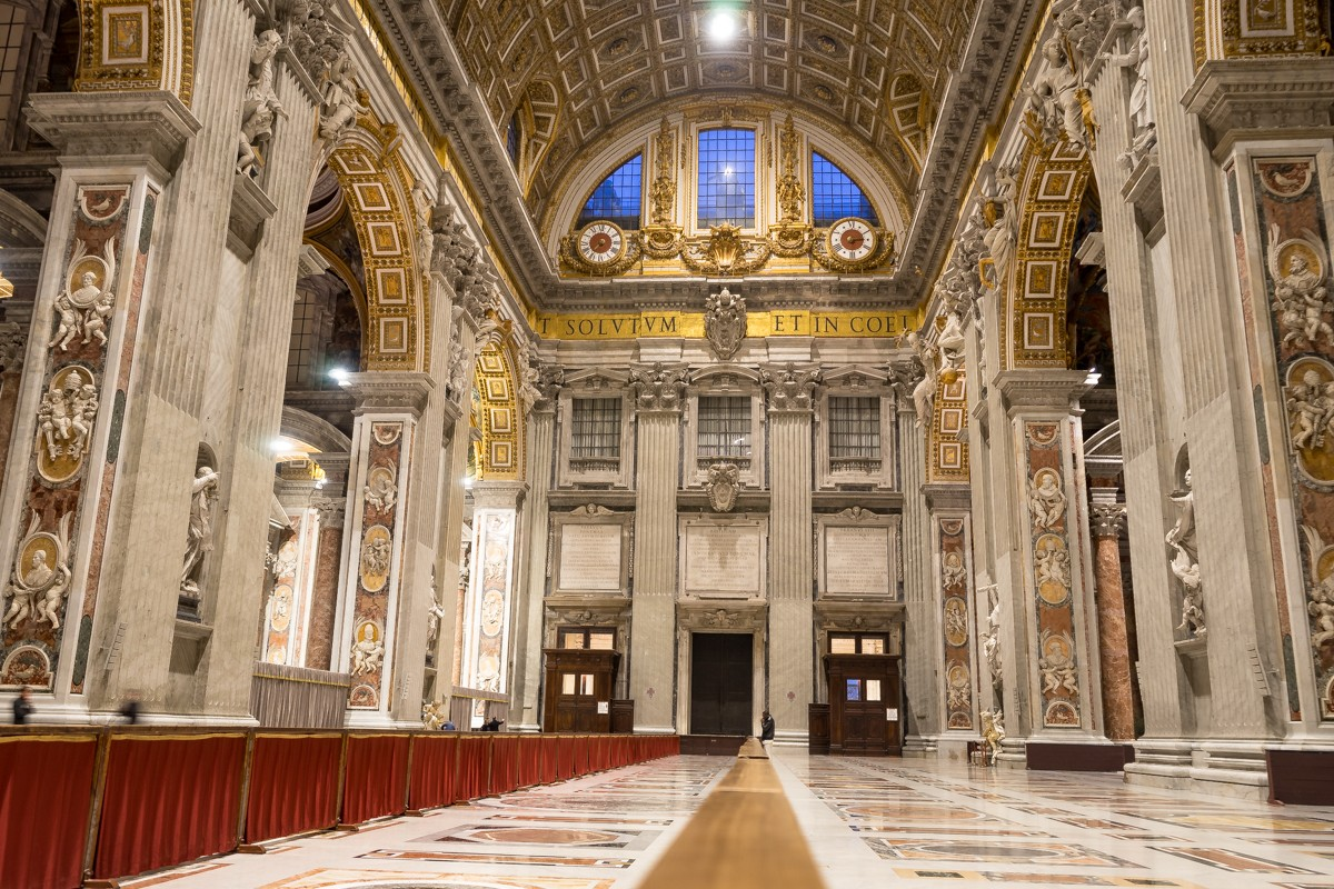 Inside St Peter's Basilica - Italy