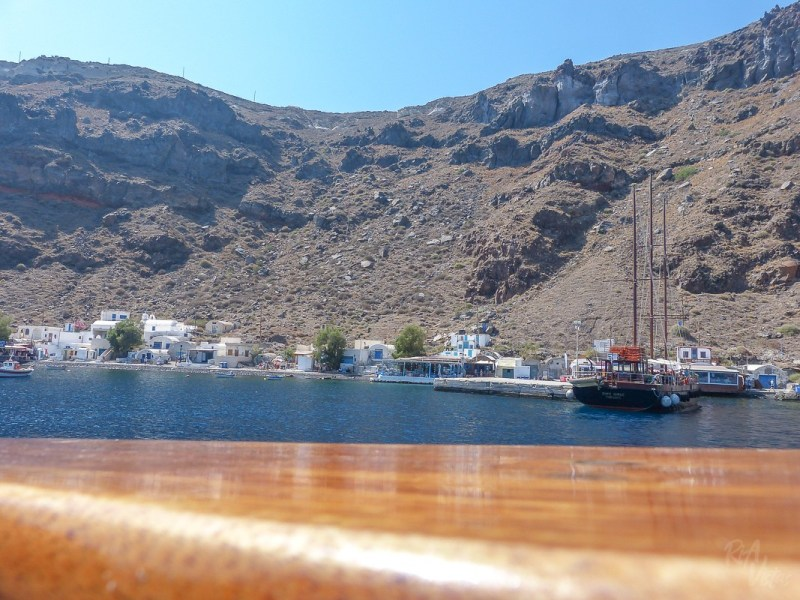 From the boat - tour in Santorini