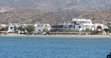 Ios beach and port