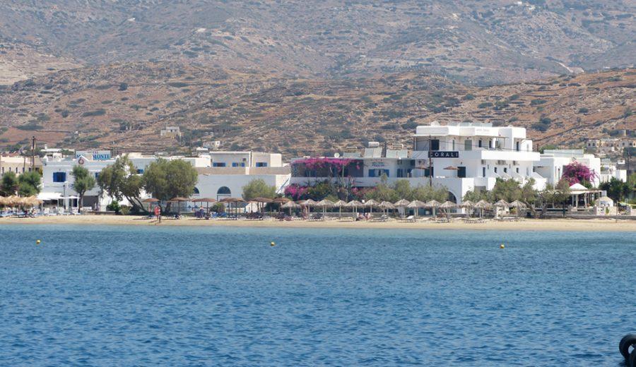 Ios beach and port