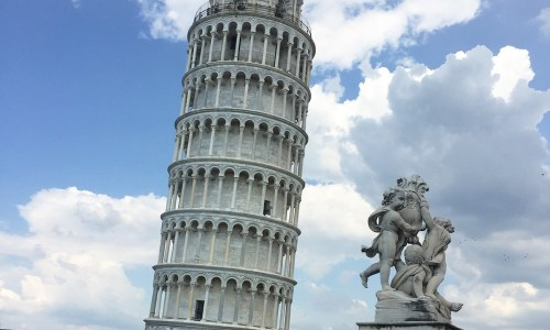 A pit-stop in Pisa, Italy